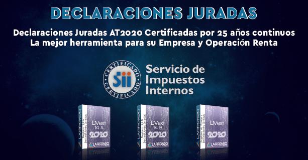 Declaraciones Juradas AT2020 Certificadas